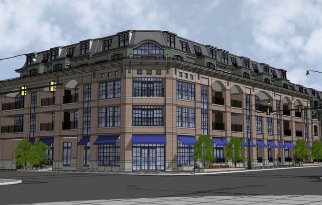 Architect's drawing of the Chason Affinity project on Elmwood Avenue.