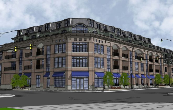 A rendering of the proposed development at Elmwood and Forest avenues.