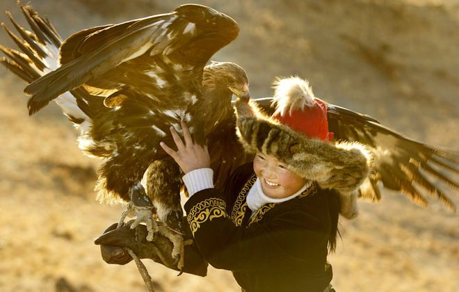 """A scene from """"The Eagle Huntress."""" (Asher Svidensky/Sony Pictures Classics)"""