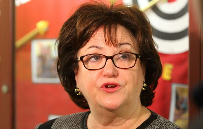 Former state Education Commissioner MaryEllen Elia has taken a job as a senior fellow at an educational consulting company following her tenure as the state's top educator. (Mark Mulville/Buffalo News)