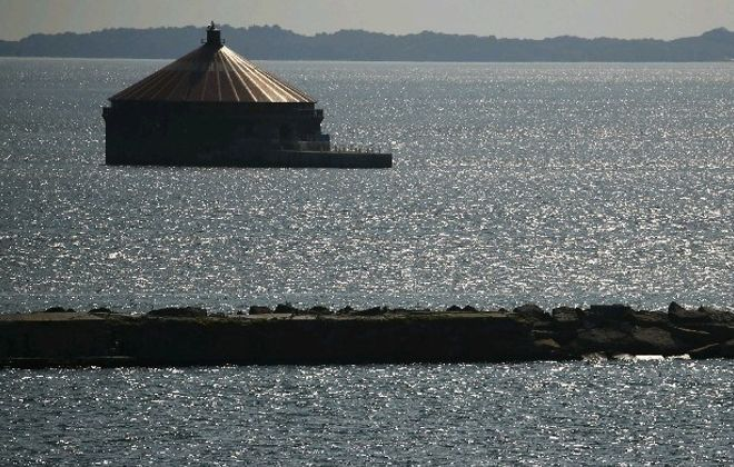 The current Buffalo water intake. (Derek Gee/News file photo)
