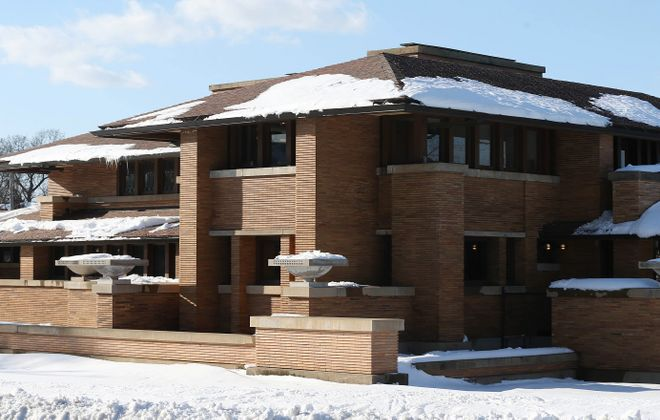 The Darwin Martin House was designed by renowned architect Frank Lloyd Wright and completed in 1905 for Darwin Martin and his family. The multi-structure estate is a National Historic Landmark which receives visitors from around the world. (Sharon Cantillon/Buffalo News)
