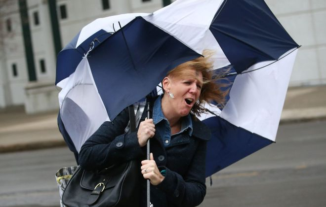For the second time in less than a week, gusty winds exceeded 55 mph in Buffalo. (Sharon Cantillon/Buffalo News file photo)