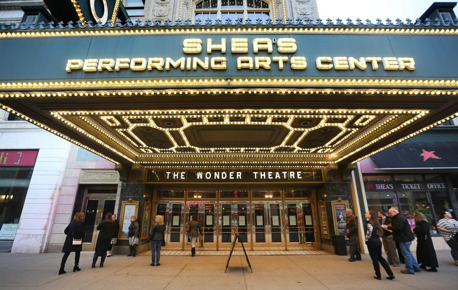The outside of Shea's Performing Arts Center, which is listed on the National Registry of Historic Places. (Sharon Cantillon/Buffalo News)