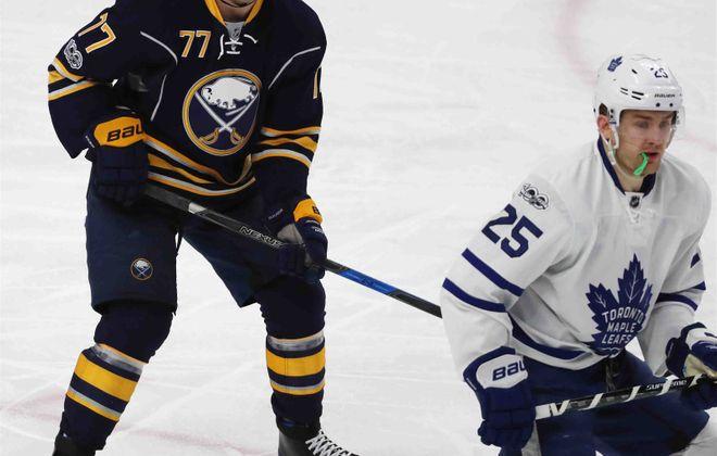 Sabres defenseman Dmitry Kulikov doubled his season output against James van Riemsdyk and the Maple Leafs. (James P. McCoy)