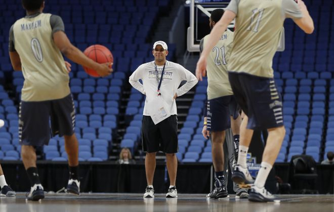 Mount St. Mary's coach  Jamion Christian says records will go out the window when his team tips off against Villanova on Thursday night. (Harry Scull Jr./Buffalo News)