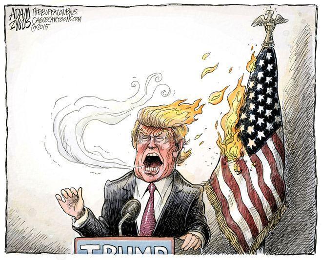Trump inflames