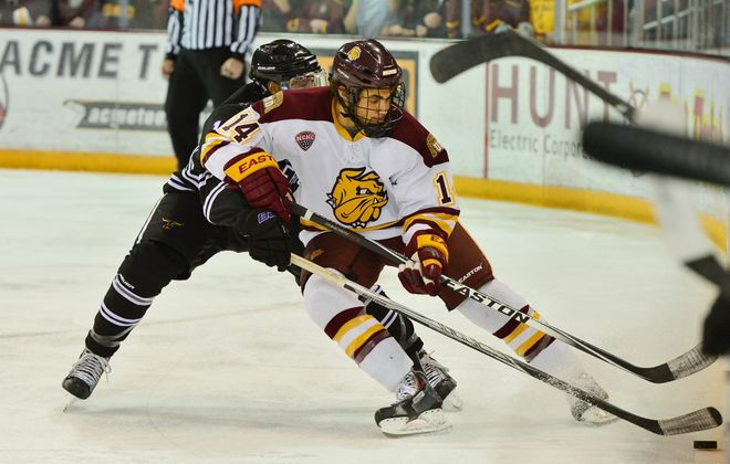 After a four-year career with Minnesota-Duluth, Alex Iafallo is in his rookie season with the L.A. Kings. (UMD Athletics)