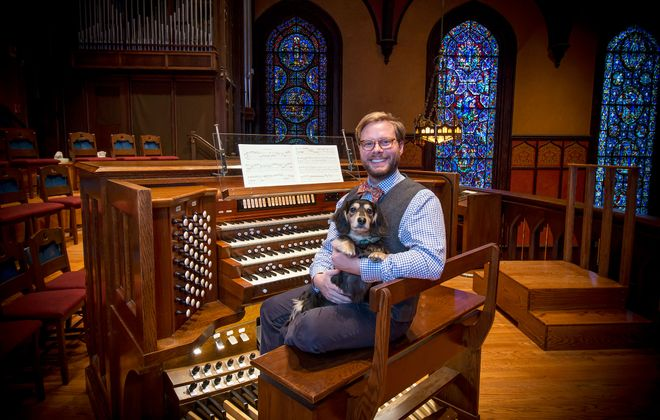 Garrett Martin is the director of music ministries for Westminster Presbyterian Church. (Dave Jarosz)