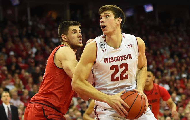 Wisconsin center Ethan Happ led the Big Ten in total steals. (Getty Images)