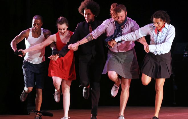 Dorrance Dance will bring a contemporary style of tap to the University at Buffalo Center for the Arts. (Bill Herbert)