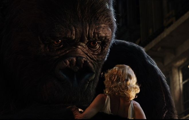 "Kong discovers Ann Darrow (Naomi Watts), following his escape from captivity and rampage through the streets of New York City.  ""King Kong"" will be released in theaters on December 14, 2005."