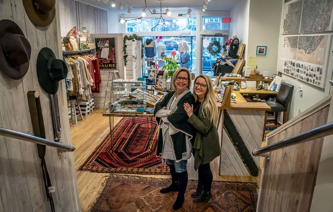 New owners Jennifer and Kilby Bronstein are giving a fresh spin to Half & Half boutique, an Elmwood Avenue staple for more than 40 years. (Alicia Wittman)