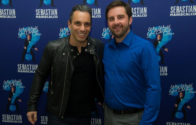 Sebastian Maniscalco, left, and Brian Herberger will perform a sold-out comedy show at Shea's Performing Arts Center.