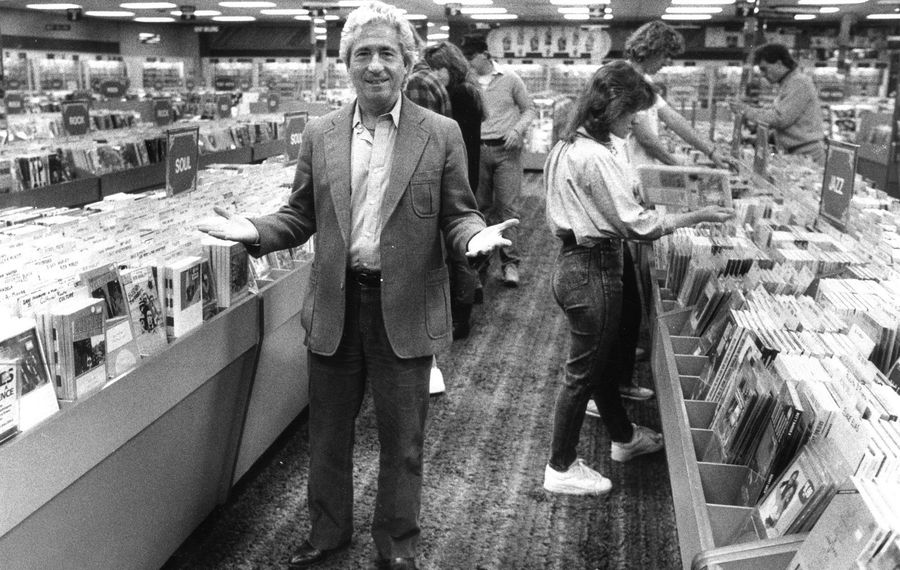 The late Leonard Silver in the original Record Theatre store at Main and Lafayette streets. (News file photo)
