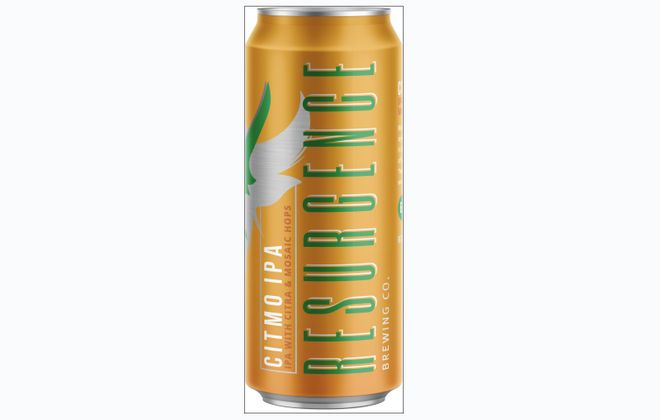 Resurgence Brewing's CitMo can, available in four packs. (via Resurgence)