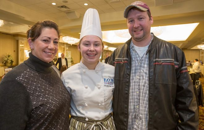 A student chef poses at last year's Taste in Education event at Salvatore's. (Don Nieman/Special to The News)