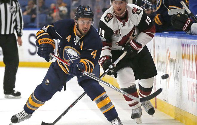 Defenseman Josh Gorges played four seasons with the Buffalo Sabres. (Robert Kirkham/Buffalo News)