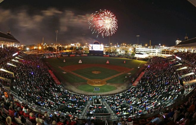 The Bisons will host the Buffalo Philharmonic Orchestra and stage the season's largest fireworks show tonight (Harry Scull Jr./News file photo)