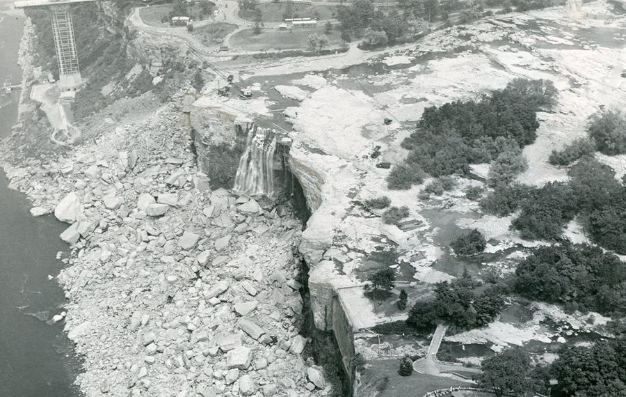 A photo taken during the 1969 dewatering of the American falls gives us an idea of what people in 1848 would have seen had they visited the falls on March 30. (News file photo)