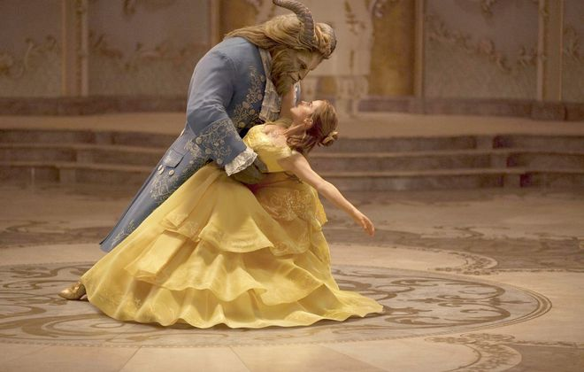 "Emma Watson stars as Belle and Dan Stevens as the Beast in Disney's ""Beauty and the Beast,"" a live-action adaptation of the studio's animated classic. MUST CREDIT: Walt Disney Studios"