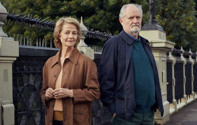 "Jim Broadbent and Charlotte Rampling in ""The Sense of an Ending."" (Robert Viglasky, CBS Films)"
