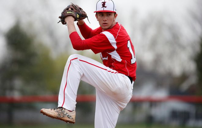Pitchers like Lancaster's Max Giordano will be on pitch counts effective this season. (Harry Scull Jr./Buffalo News)
