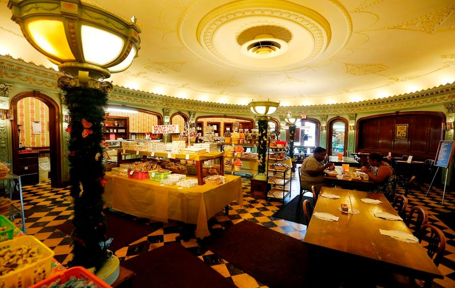 The 1927 candy shop is getting a $230,000 restoration, partly funded with Buffalo Billion money. (Mark Mulville/Buffalo News)