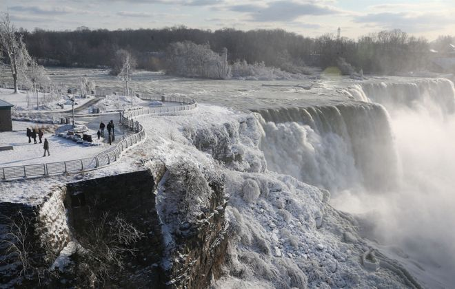 Niagara Falls, pictured from the observation deck. (Sharon Cantillon/Buffalo News)