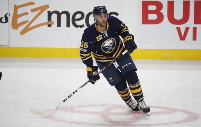 Williamsville native Justin Bailey was traded from the Sabres to the Flyers in January. (Harry Scull Jr./News file photo)