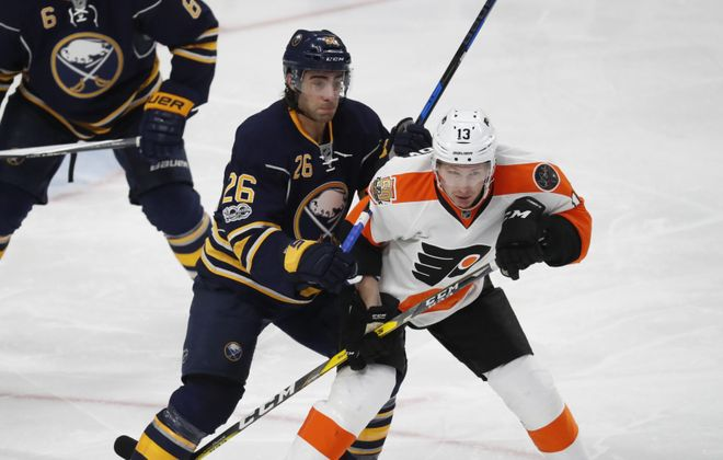 The Sabres face off against the Philadelphia Flyers. (Harry Scull Jr./News file Photo)