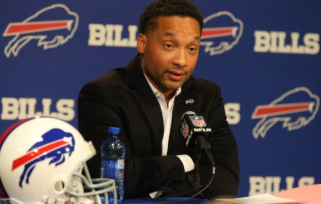 Former Bills General Manager Doug Whaley has found a new job. (James P. McCoy/Buffalo News)