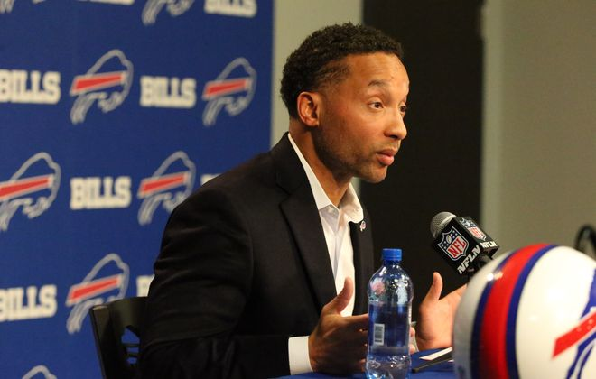 Former Bills General Manager Doug Whaley. (James P. McCoy/Buffalo News)
