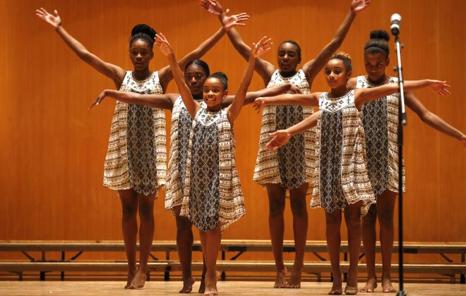 Members of Miss Barbara's School of Dance perform during the annual Rev. Dr. Martin Luther King celebration at Kleinhans Music Hall in 2017. (Robert Kirkham/Buffalo News)
