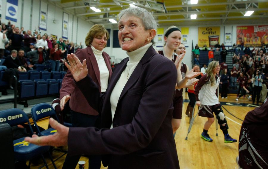 Sister Maria Pares was known for her fiery nature during her Hall of Fame basketball coaching career. The fighting spirit also served her well during her lengthy cancer battle. (Harry Scull Jr. / Buffalo News)