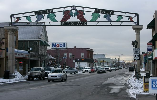 "A sign indicating the ""Little Italy"" portion of Pine Avenue in Niagara Falls,. (News file photo)"