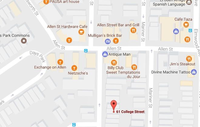 The Allentown Association has a new office at 61 College St. (Credit: Google Maps)