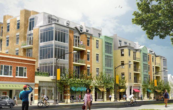 The planned Arbor + Reverie residential project was supposed to include nearly 100 condominiums and apartments, plus ground-floor residential space and parking.