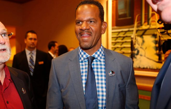 Andre Reed enjoyed getting to know new Bills quarterback Josh Allen on Thursday. (Robert Kirkham/News file photo)