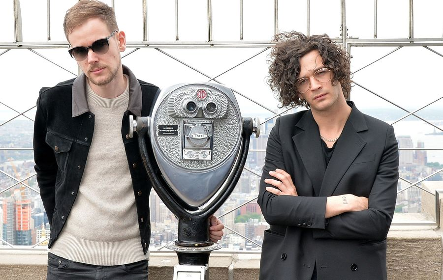The 1975 - Adam Hann, left, and Matty Healy - will play two shows at Rapids Theatre.  (Getty Images)