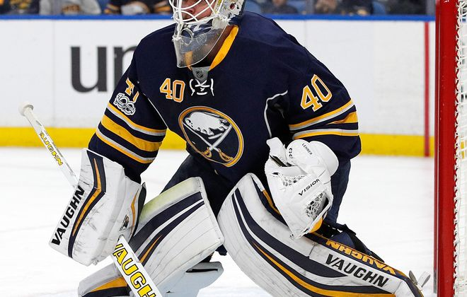 In his last six games, Robin Lehner is 1-3-2, with 4.59 goals against average and an .853 save percentage. .(Getty Images)
