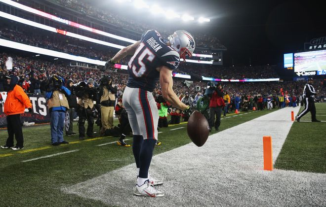 Don't draft Bills. But ex-Bills, like the Patriots' Chris Hogan are OK.  (Getty Images)