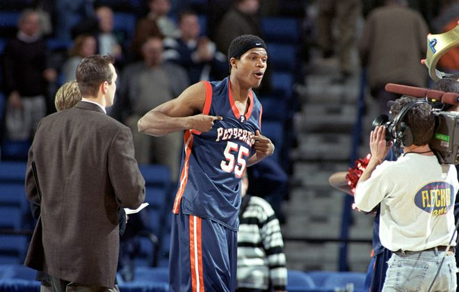 Cedric Suitt  flaunts the Pepperdine name after the Waves' destruction of Indiana. (Getty Images)