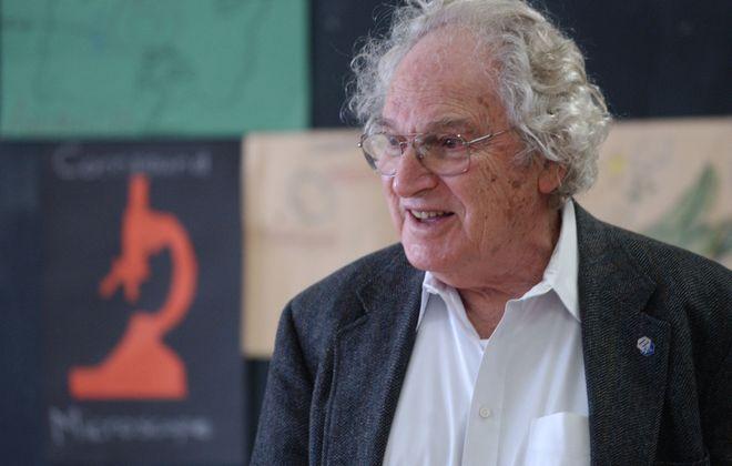 Dr. Herbert Hauptman,  winner of the 1985 Nobel Prize for Chemistry, shown in 2002.  (Buffalo News file photo)