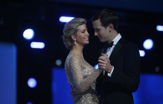Ivanka Trump and Jared Kushner dance at the Freedom Ball after President Donald Trump's inauguration, in Washington, Jan. 20, 2017. (Doug Mills/The New York Times)