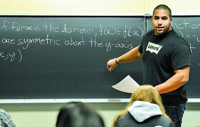 John Urschel, a Canisius High School graduate, decided to quit the NFL and turn to his other passion, mathematics. (Photo by Mark Selders)