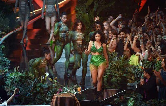 Nicki Minaj performs during the 2014 MTV Video Music Awards  (Michael Buckner/Getty Images)