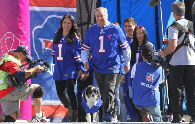 Buffalo Bills owners Terry and Kim Pegula.  (Mark Mulville/Buffalo News)