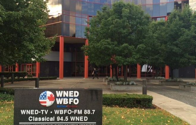 The WNED/WBFO building on Lower Terrace