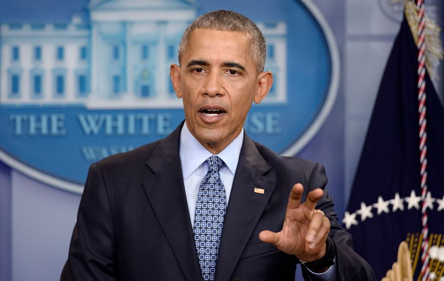 President Barack Obama holds his final press conference on Wednesday, Jan. 18, 2017 in the White House briefing room in Washington, D.C. (Olivier Douliery/Abaca Press/TNS)